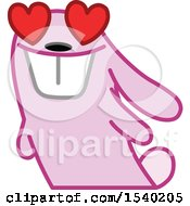 Pink Bunny Rabbit In Love