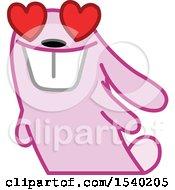 Poster, Art Print Of Pink Bunny Rabbit In Love