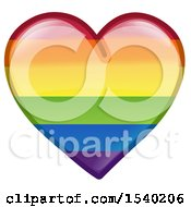 Clipart Of A Rainbow Flag LGBTQ Pride Love Heart Royalty Free Vector Illustration