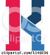Clipart Of A Letter K Logo Design Royalty Free Vector Illustration