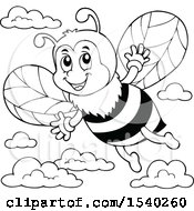 Black And White Honey Bee