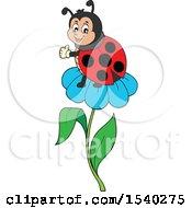 Poster, Art Print Of Ladybug On A Daisy Flower