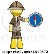Yellow Explorer Ranger Man Holding A Large Compass