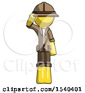 Yellow Explorer Ranger Man Soldier Salute Pose