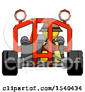 Yellow Explorer Ranger Man Riding Sports Buggy Front View