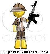 Yellow Explorer Ranger Man Holding Automatic Gun