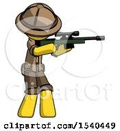 Yellow Explorer Ranger Man Shooting Sniper Rifle