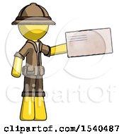Yellow Explorer Ranger Man Holding Large Envelope