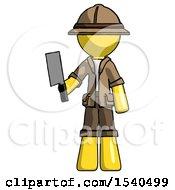 Yellow Explorer Ranger Man Holding Meat Cleaver