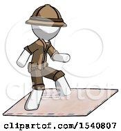 White Explorer Ranger Man On Postage Envelope Surfing