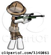 White Explorer Ranger Man Shooting Sniper Rifle