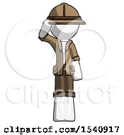 White Explorer Ranger Man Soldier Salute Pose