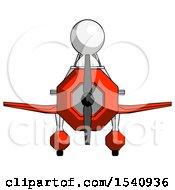 White Design Mascot Man In Geebee Stunt Plane Front View