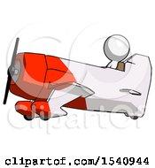White Design Mascot Man In Geebee Stunt Aircraft Side View