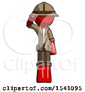 Red Explorer Ranger Man Soldier Salute Pose
