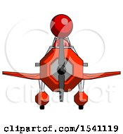 Red Design Mascot Woman In Geebee Stunt Plane Front View