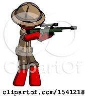 Red Explorer Ranger Man Shooting Sniper Rifle