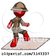 Red Explorer Ranger Man On Postage Envelope Surfing