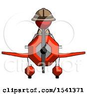 Red Explorer Ranger Man In Geebee Stunt Plane Front View