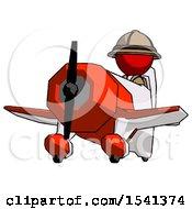 Red Explorer Ranger Man Flying In Geebee Stunt Plane Viewed From Below