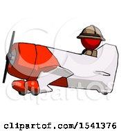 Red Explorer Ranger Man In Geebee Stunt Aircraft Side View