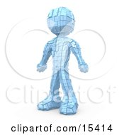 Metallic Robot Standing Clipart Illustration Image