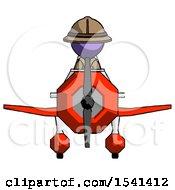 Purple Explorer Ranger Man In Geebee Stunt Plane Front View