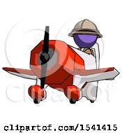 Purple Explorer Ranger Man Flying In Geebee Stunt Plane Viewed From Below