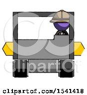 Purple Explorer Ranger Man Driving Amphibious Tracked Vehicle Front View