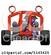 Purple Explorer Ranger Man Riding Sports Buggy Front View