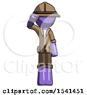 Purple Explorer Ranger Man Soldier Salute Pose