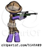 Purple Explorer Ranger Man Shooting Sniper Rifle