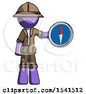 Purple Explorer Ranger Man Holding A Large Compass