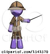 Purple Explorer Ranger Man Teacher Or Conductor With Stick Or Baton Directing