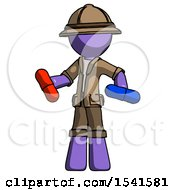 Purple Explorer Ranger Man Red Pill Or Blue Pill Concept