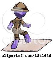 Purple Explorer Ranger Man On Postage Envelope Surfing