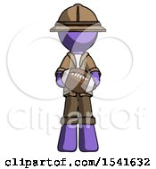 Purple Explorer Ranger Man Giving Football To You