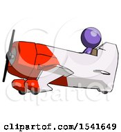 Purple Design Mascot Man In Geebee Stunt Aircraft Side View