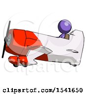 Purple Design Mascot Woman In Geebee Stunt Aircraft Side View