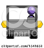Purple Design Mascot Woman Driving Amphibious Tracked Vehicle Front View