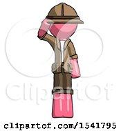 Pink Explorer Ranger Man Soldier Salute Pose