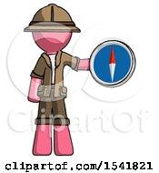 Pink Explorer Ranger Man Holding A Large Compass