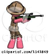 Pink Explorer Ranger Man Shooting Sniper Rifle
