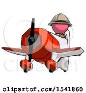 Pink Explorer Ranger Man Flying In Geebee Stunt Plane Viewed From Below