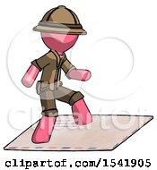 Pink Explorer Ranger Man On Postage Envelope Surfing