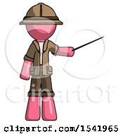 Pink Explorer Ranger Man Teacher Or Conductor With Stick Or Baton Directing