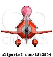 Pink Design Mascot Man In Geebee Stunt Plane Front View