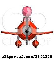Pink Design Mascot Woman In Geebee Stunt Plane Front View