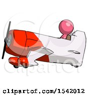 Pink Design Mascot Man In Geebee Stunt Aircraft Side View