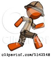 Orange Explorer Ranger Man Running Fast Right